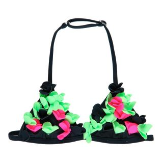 Boboli Детски бански за момиче 2 части 3D Ефект Fluor Flowers
