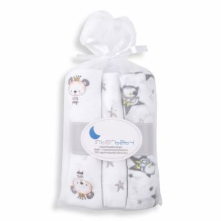 Interbaby бебешки муселинови пелени 3бр/оп. ,сив