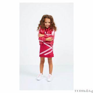 Guess детска брандирана рокля с къс ръкав