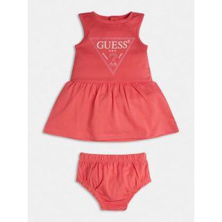 Guess розова бебешка рокля трико