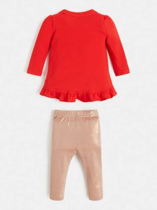 Guess бебешки комплект блуза и клин за момиче Sweet Princess