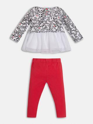 Guess Комплект за момиче, 2 части - блуза с тюл и клин