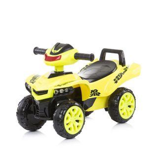 Chipolino Детска количка за яздене ATV с музика, зелен