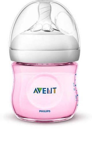 Philips Avent Шише за хранене Natural 125 мл, PP - лимитирана серия, розов