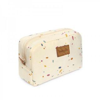 Baby Clic Несесер за бебешки принадлежности Confetti Ivory 21х15х8см