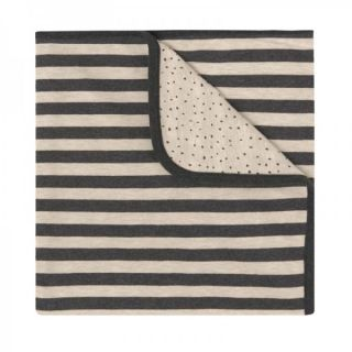 Baby Clic Двулицево бебешко одеяло 80х110см - Beige Stripes