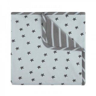 Baby Clic Двулицево бебешко одеяло 80х110см - Little Star Azul