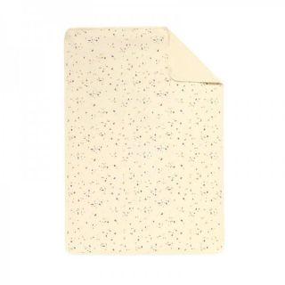 Baby Clic Двулицево бебешко одеяло 80х110см - Confetti Ivory