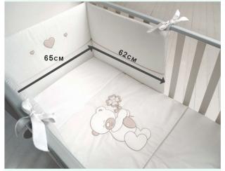 Baby Expert спален комплект 4 части Gastone Бял/Беж