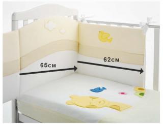 Baby Expert Спален комплект 4 части Allegria Giraffina Крем