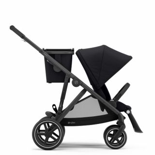 Бебешка количка за близнаци Cybex Gazelle S Deep Black black