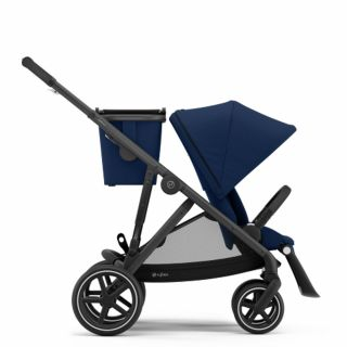 Бебешка количка за близнаци Cybex Gazelle S Navy Blue black