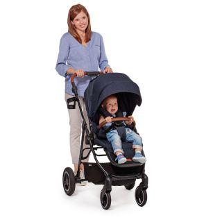Бебешка количка KinderKraft ALL ROAD, синя