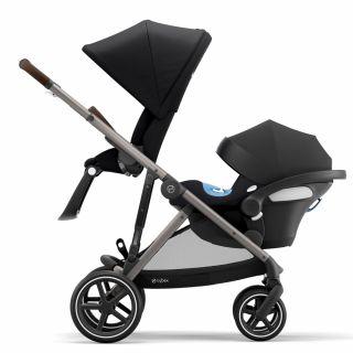 Бебешка количка за близнаци Cybex Gazelle S Deep Black taupe