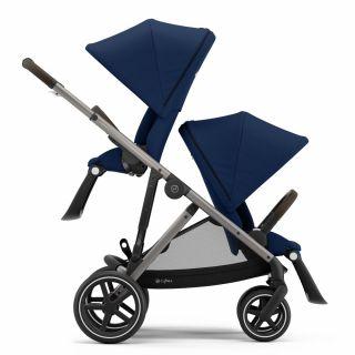 Бебешка количка за близнаци Cybex Gazelle S Navy Blue taupe