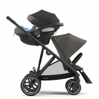 Бебешка количка за близнаци Cybex Gazelle S Soho Grey black
