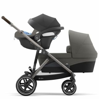 Бебешка количка за близнаци Cybex Gazelle S Soho Grey taupe