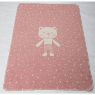 David Fussenegger Двулицево бебешко одеяло Juwel 70x90 розово мече