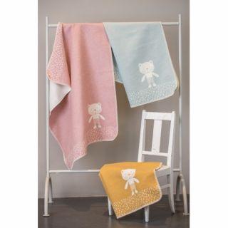 David Fussenegger Двулицево бебешко одеяло Juwel 70x90см оранжево мече