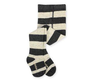 Boboli бебешки чорапогащник сив/черен Move On 12м/80см
