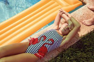 Boboli Цял бански за момиче Фламинго Sailor