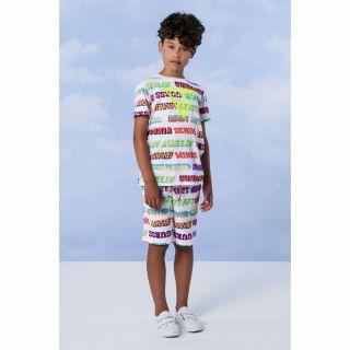 Guess детска цветна тениска с надписи за момче
