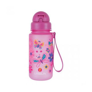 Неразливаща се детска бутилка за вода LittleLife Butterfly, 400 мл