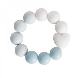 Widdop & Co Бебешка гризалка от силикон 3м+ - синя Bambino