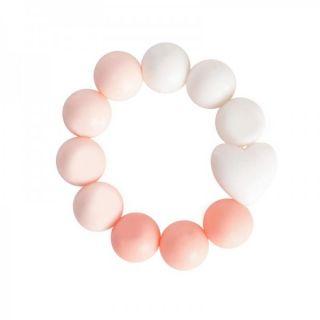 Widdop & Co Бебешка гризалка от силикон 3м+ - розова Bambino