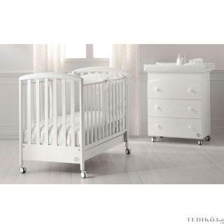 Baby Expert бебешко креватче Cucciolo Бял