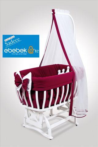 Бебешко легло-люлка и спален комлект - червен   Tahterevalli