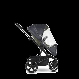 Дъждобранът защитава бебето от дъжд и вятър Той се поставя и сваля много лесно Компактен в сгънато положение