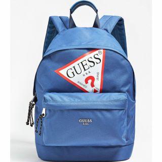 Guess синя раница с лого Back to School