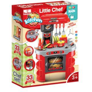 Детска кухня Buba Kitchen Cook 008-908A, Червена