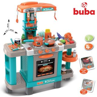 Детска кухня с реакция при докосване Buba 088-938А, Синя