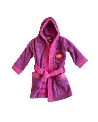 Interbaby детски халат за момиче лилав