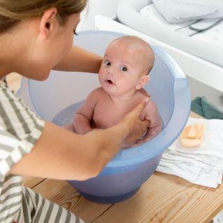 Doomoo Basics Вана за къпане на новородено Shantala Blue