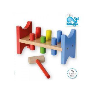 Дървена играчка с чукче Beluga 50104