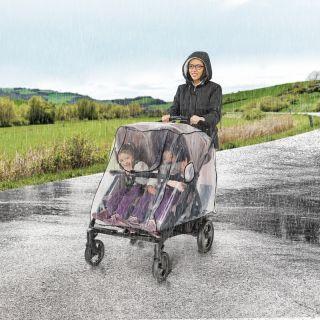 Дъждобран за количка за близнаци Reer RainCover Twin