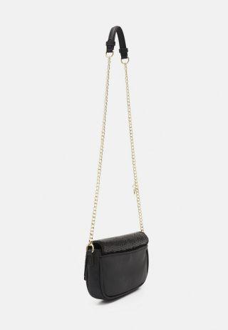 Guess Marlie детска черна чанта с пайети и метално лого