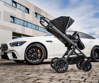 Бебешка количка Mercedes Benz AMG Дизайн Black 560
