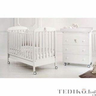 Baby Expert бебешко креватче Tato Бял