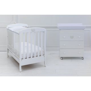 Бебешко креватче + скрин с вана и повивалник + спален комплект 4 части   Baby Expert