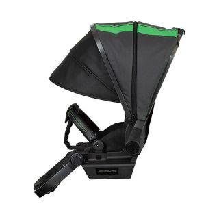 Много позиционна седалка със сенник, позволяващ безшумно сгъване, вентилационна система, вградена допълнителна козирка с UV защита фактор 50+