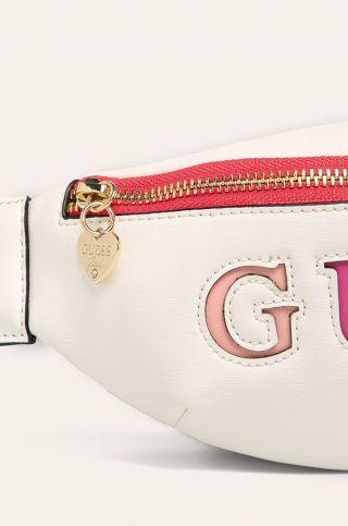 Guess кожена чанта за кръст с надпис Guess