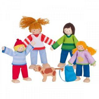 Goki Гъвкави кукли Семейство на къмпинг