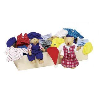 Goki Мечешко семейство в кутия с дрехи