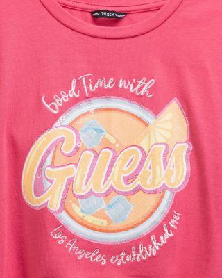 Детска тениска с набран ефект Good Time With Guess