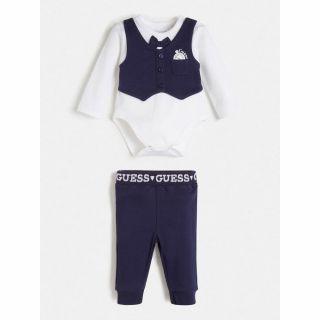 Guess бебешки официален комплект боди и панталон