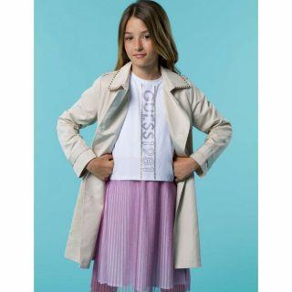 Guess детски бежов шлифер за момиче